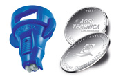 Asymmetrical twin flat spray air-injector nozzles IDTA
